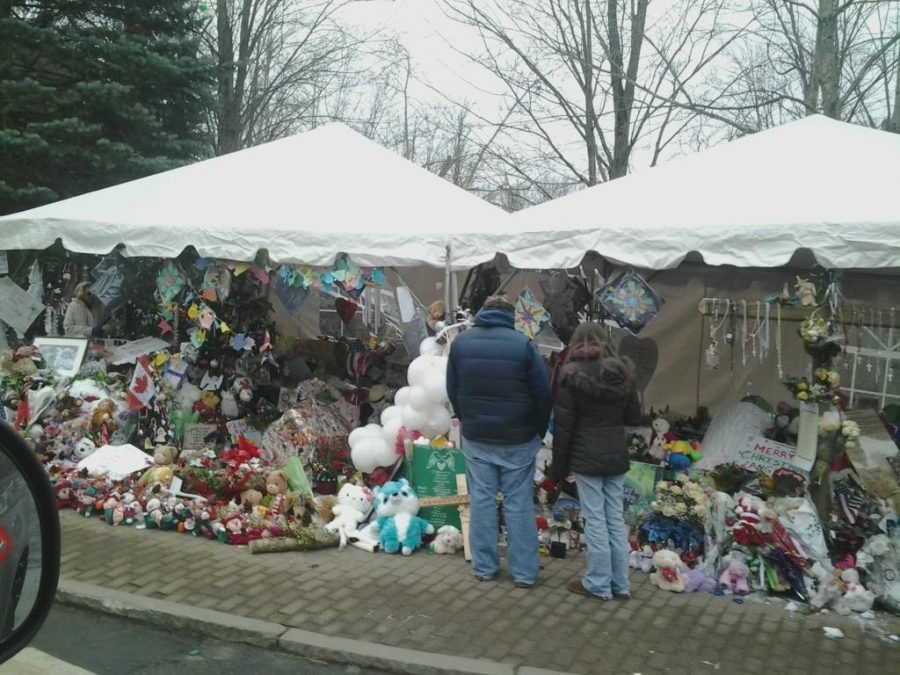 Showcasing just one of the many memorials of the Sandy Hook shooting, this image displays the obvious heartbreak felt all throughout Connecticut. This is much like what took place on December 14, which marked the seven-year anniversary of the shooting, a day that was turned into a celebration when the Newtown High School football team won their state championship game.