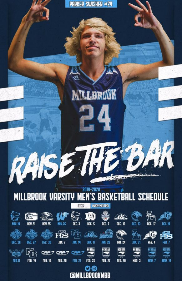 Flexing+for+a+picture%2C+senior+Parker+Swisher+shows+his+excitement+for+the+basketball+season.+Parker+also+contributes+to+many+clubs+and+activities+here+at+Millbrook.+%0A