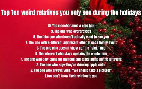 Top ten relatives you only see during the holidays!