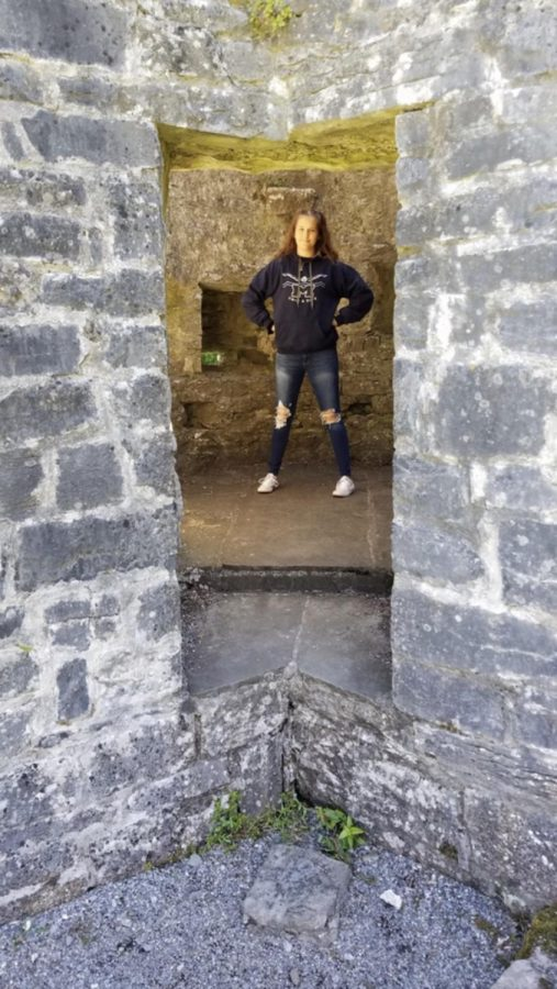 Standing in an old watch tower where Irish soldiers used to scope out their enemies, junior Ellie Stiller enjoys her trip to Ireland. Ellie is one of the many Millbrook students who had a memorable 2019.