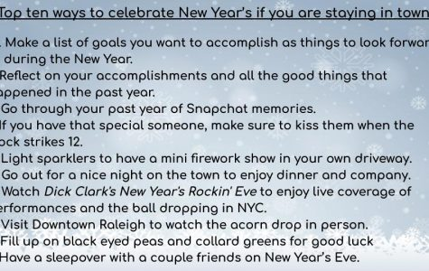 Top ten ways to celebrate New Year's if you are staying in town