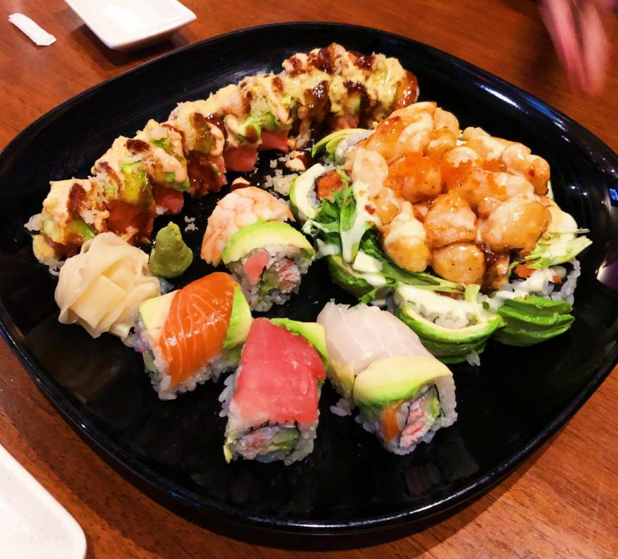 The lunch sushi combo above includes one of Hayashi's most popular rolls, the Punk Rock, in the far right. Hayashi Japanese Restaurant located in Wakefield, North Carolina provides customers with quality raw seafood and an outstanding dining experience.