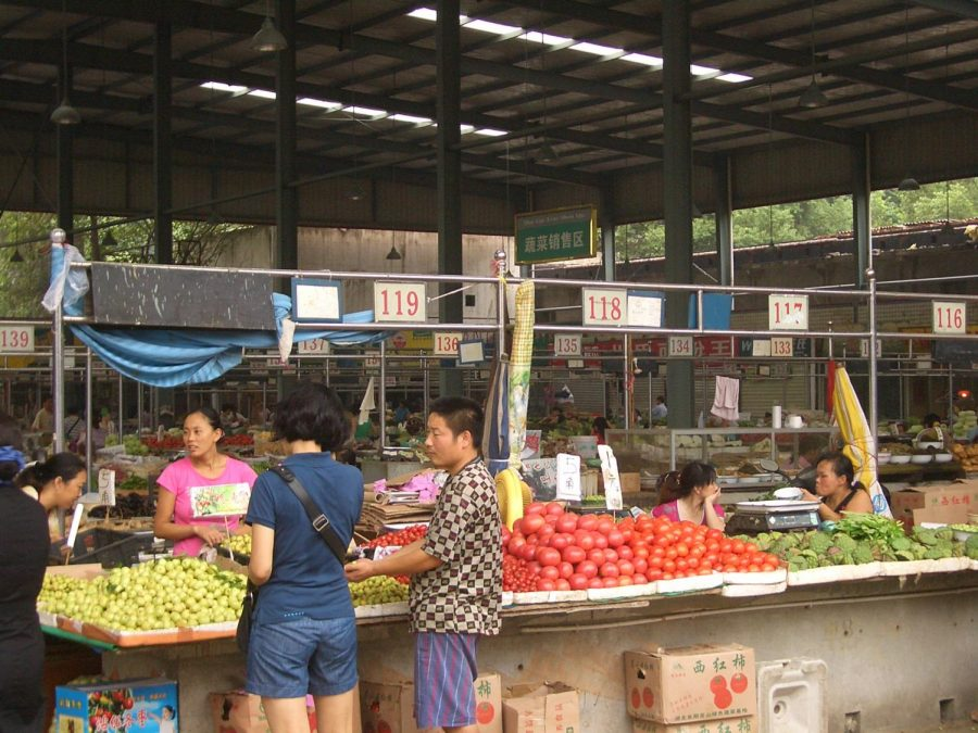 Purchasing produce, these customers visit a market in Wuhan, China, where COVID-19 originated. There is a lot of misinformation about the virus on the internet right now, so make sure you get your news from trusted sources like the CDC and WHO.
