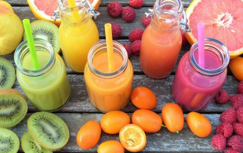 Displayed is a colorful arrangement of fruits that are full of vitamins that can give an extra health boost. Smoothies are a perfect way to pack in different nutrients that might be more difficult to receive individually.