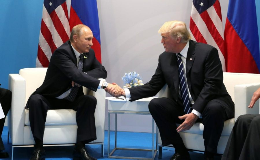 Shaking+hands+with+Russian+President+Vladamir+Putin%2C+US+President+Donald+Trump%2C+among+other+world+leaders+attended+the+2017+G-20+Hamburg+Summit.+The+Senate+Intelligence+Committee%2C+headed+by+NC+Senator+Richard+Burr%2C+unanimously+agreed+with+the+findings+of+the+Intelligence+Community+from+2017%3A+Russia+did+interfere+with+our+2016+election+and+favored+Trump+over+Clinton.+