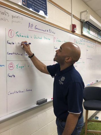 Preparing his lesson plans for the day, Mr. Whiteside displays his sincere passion for teaching. He enjoys making a difference in students' lives and being the person they can always count on, even beyond the walls of the classroom.