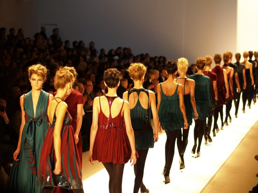 Walking down the runway at Toni Maticevski's fall 2007 New York Fashion Week show, these models show off beautiful jewel tone dresses. This trend is just one of the many making a comeback in fall fashion this year.