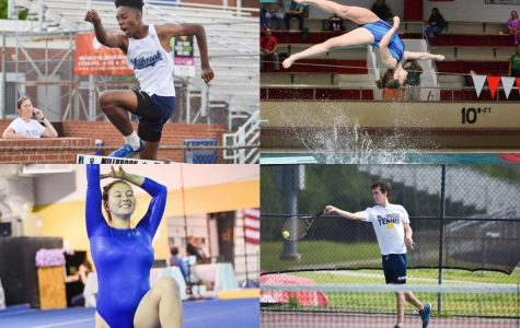 Playing their sports, Millbrook alumni represent the Wildcats. Track, diving, gymnastics, and tennis were four common sports that were cut from many colleges because of the pandemic.