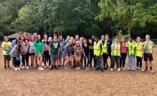 A group of Key Club members gather together in 2019 and take on the challenge of cleaning up a local park. Here, they took the time to get to know each other while giving back to their community.