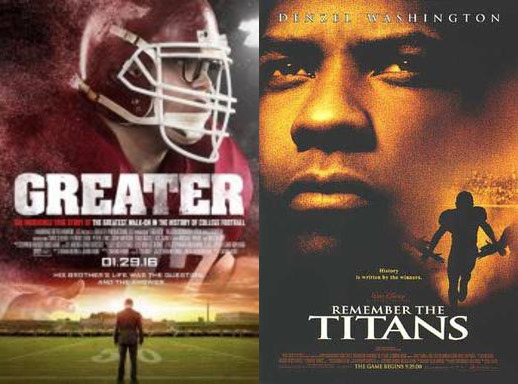 As sports fans get into the football spirit this November, football is on the minds of many. When choosing what to watch on a Tuesday or Wednesday night, Greater and Remember the Titans are two heartwarming movies that will keep you in tune of football and share inspiring stories.