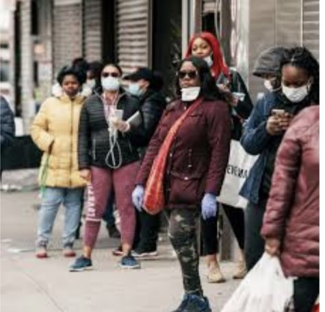 Standing masked up outside stores, customers show how retailers are enforcing COVID safety precautions. With Black Friday approaching, many stores have moved their sales to online as well as in person.