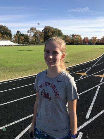 Elated by the opportunity to practice with her team, freshman Lily Scarlett has experienced a tough, but rewarding first season as a part of women's cross country. She credits her teammates for being supportive through these trying times and is overjoyed at the prospect of a semi-normal practice and meet schedule.
