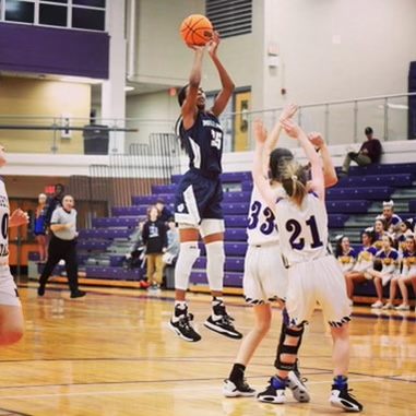 Last season senior Keanna Rembert shootst a mid range jumper in their game against Broughton. She has been a key player for the team the last few years and is excited to start her final season.