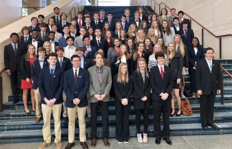 In 2019, Students from Millbrook joined together to compete at the DECA District Conference. Here they presented business proposals and solutions to a group of judges and were graded on their presentation.