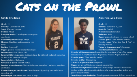 Cats on the Prowl: Sayde Friedman and Anderson Adu-Poku