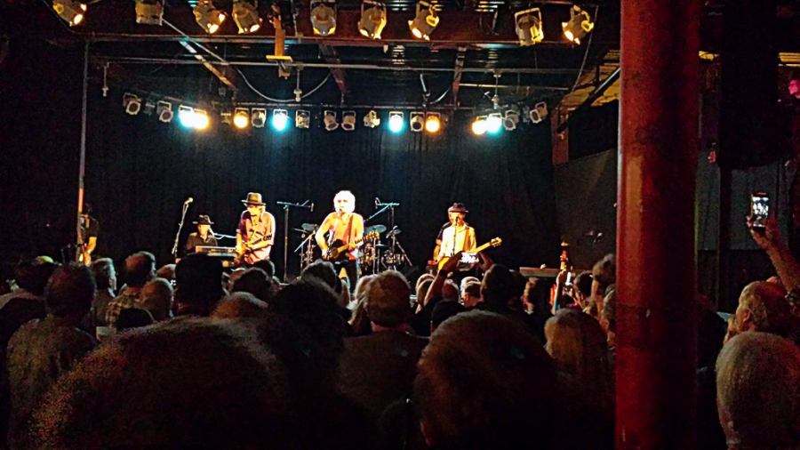 A local band plays live for a standing-room-only crowd at the historic music venue, Cats Cradle, in Carrboro. Even during COVID, there are still plenty of local talent posting their music on streaming platforms, including Arson Daily and Weston Estate.