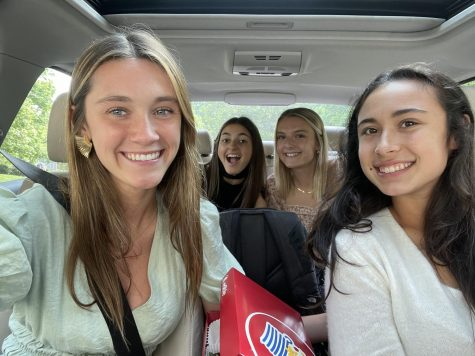 Traveling off campus for lunch, these friends decided to have Tropical Smoothie for lunch and ordered it online for a faster pickup. Marian Ward(front left), Laney Snead(back left), Anna-Scott Hunt(back right), and Mia DeMartino(front right) all love to get a quick break from school and go grab lunch.
