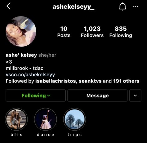 Pictured above, junior Ashe' Kelsey chose to add her pronouns to her bio. This option allows for people to know which pronouns you prefer and makes it more gender inclusive.