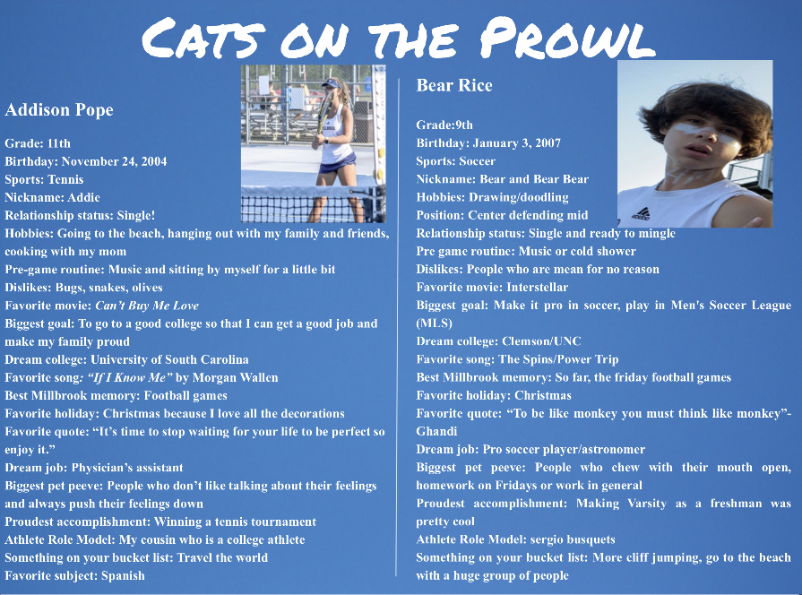 Cats on the Prowl: Addison Pope and Bear Rice