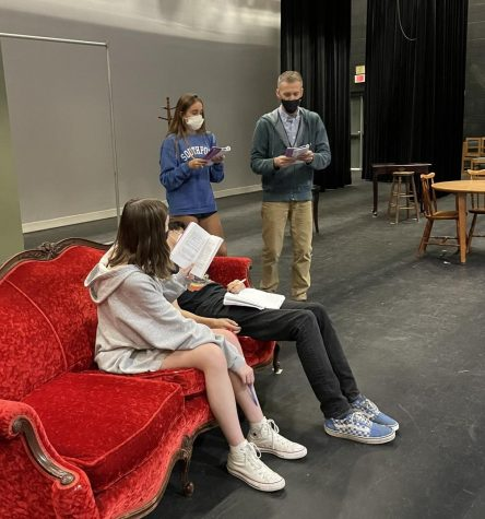 Rehearsing lines with junior Miriam Rodriguez for this year's fall play Night Must Fall, Mr. K demonstrates his passion for discovering and working with amazing talent. His commitment to the Millbrook Theatre Department is displayed through the quality and entertainment value of each production he directs.